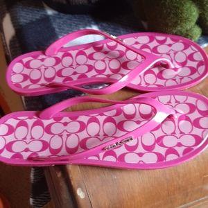 Coach Pink Flip flops